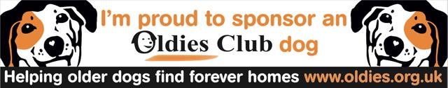 Oldies Club, sponsor dog, dog rescue, car sticker, sponsor pack, Christmas