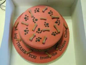 Oldies Club cake